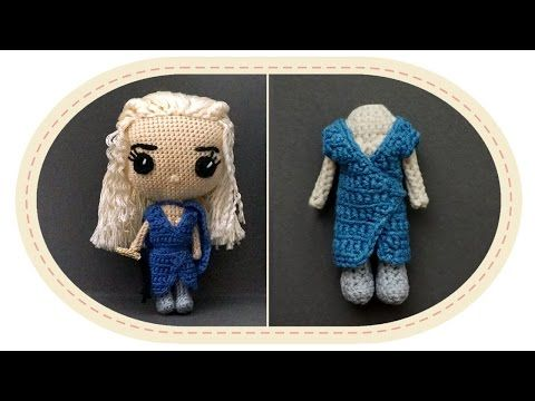 Кукла Дейенерис Таргариен крючком, часть 5. Crochet Daenerys Targaryen, part 5. Game of Thrones. - YouTube