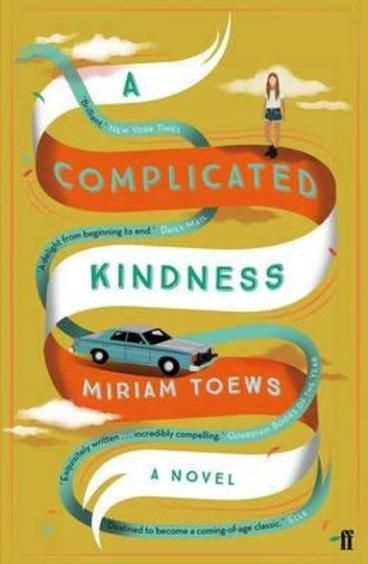 A Complicated Kindness by Miriam Toews.  Nomi Nickel lives with her father, Ray, in East Village, a small Mennonite town in Manitoba. She dreams of escaping to the big city, but since her mother and sister left home, it's hard to imagine leaving her father behind. As she begins to piece together the story behind her mother's disappearance, she finds herself on a direct collision course with the town's minister.