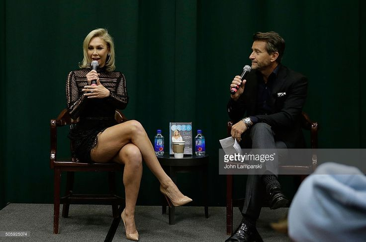 Dancing With the Stars ballroom dancer, Kym Johnson in conversation with Robert Herjavec at Barnes & Noble Tribeca on January 20, 2016 in New York City.