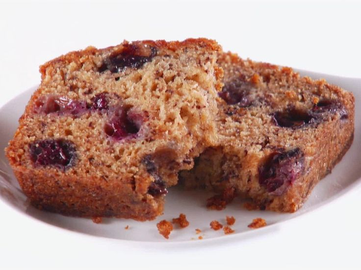 Blueberry-Banana Bread recipe from Giada De Laurentiis via Food Network--I think I made muffins out of these-- Tasty!
