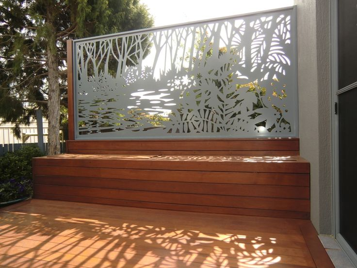 Relaxing on the deck in the afternoon sun, admiring your stunning new privacy screen... ahh the serenity.. (Screen by Screen Art. Pattern: Byron) http://www.screenart.net.au