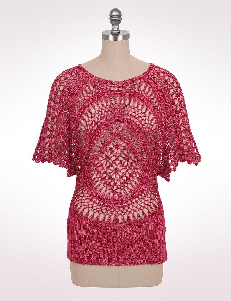 Sale | Misses | Sweaters | Open Crochet Pullover | dressbarn