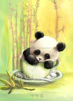 i know there have been lotsa rumors about those bonsai kittens but who needs a kittne if you might get a panda cub... panda cup... cub cup O_O One more for the postcardsset i´m gonna do with p...