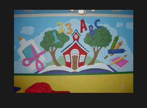 School wall murals murals dallas fakkel art learning for Mural school