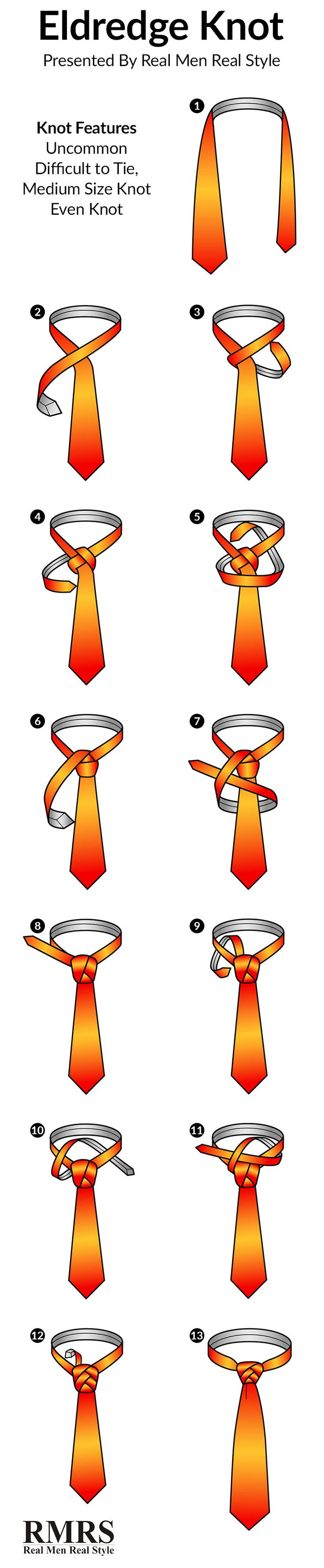 How To Tie A Tie | The Eldredge Knot Infographic