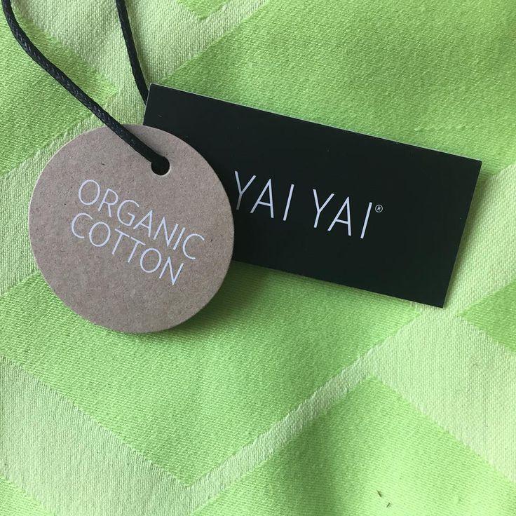 Lime green dish towel from Danish YAI YAI - GOTS certified/organic.