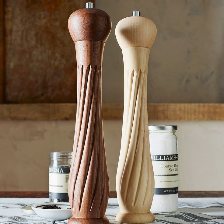 Williams-Sonoma Convex Twist Walnut Pepper Mills
