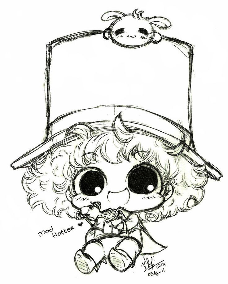 mad hatter coloring pages - photo#24