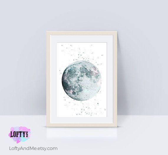 Mira este artículo en mi tienda de Etsy: https://www.etsy.com/mx/listing/472835497/cartel-escandinavo-luna-vivero-impresion