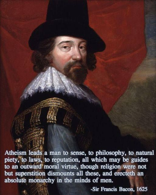Among other things, Sir Francis Bacon was an English Renaissance statesman and philosopher, best known for his promotion of the scientific method.