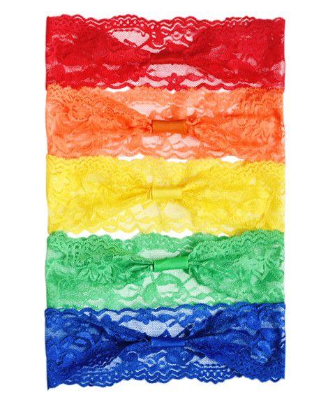 Lace Headband Variety Pack - Rainbow