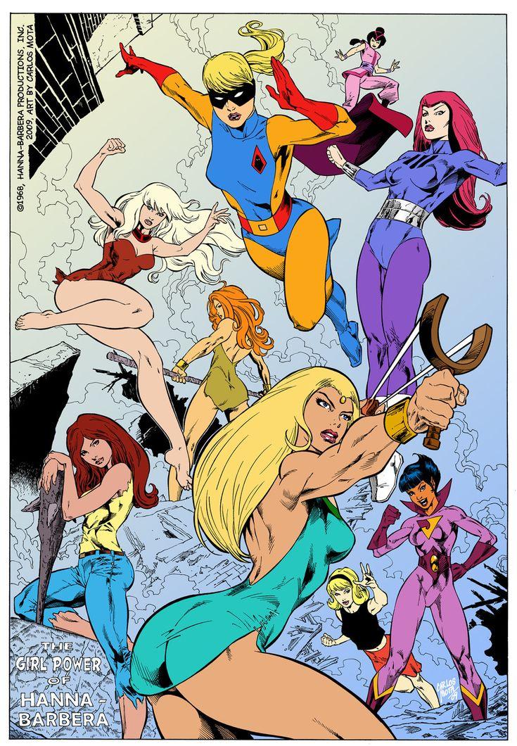 Hanna Barbera Super Girls by CarlosMota.deviantart.com on @DeviantArt