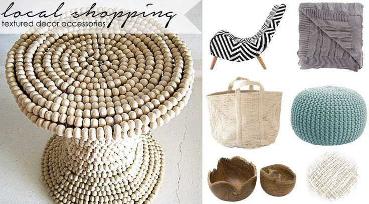 Gorgeous Textured decor accessories www.homeology.co.za