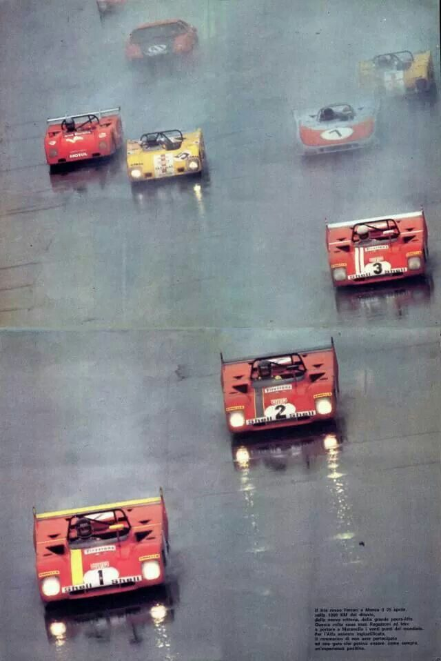 1972 MONZA 1000K - Ferrari 312 PB. Car No: 1. Drivers: Jacky Ickx (B) / Clay Regazzoni (CH). Place: 1st o/a. Car No: 2. Drivers: Ronnie Peterson (S) / Tim Schenken (AUS). Place: 3rd o/a. Car No: 3. Drivers: Brian Redman (GB) / Arturo Merzario (I). Place: DNF.