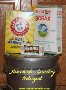 Learn how to make Homemade Laundry Detergent http://madamedeals.com/domestic-diva-takes-on-the-laundry/ #inspireothers