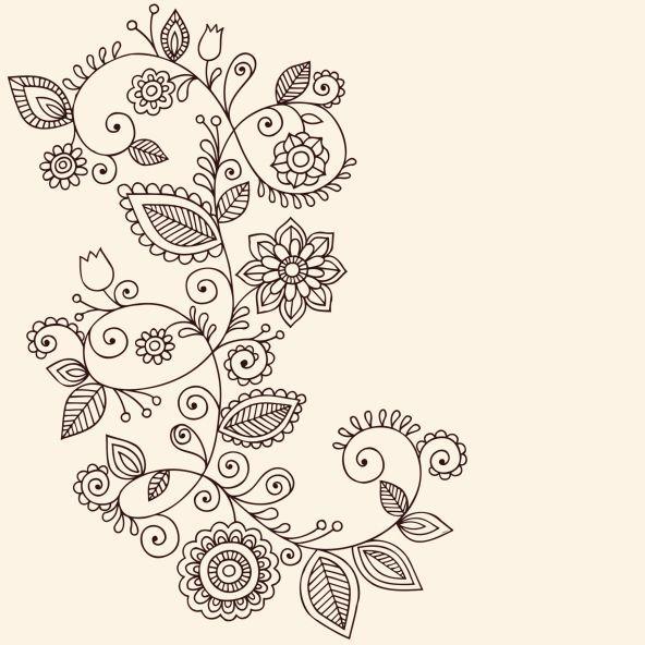 imagenes de dibujos de flores enredaderas - Buscar con Google: