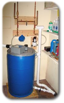 """Why recycle """"greywater""""?    Once fresh, potable water has become greywater, it is a free resource.  You've already paid for it the first time; therefore, the collection and reuse of this greywater will not cost you or the environment any more than its initial use.  This results in a significant water savings for your home, a reduction of your carbon footprint, and a cost savings to you, as well."""