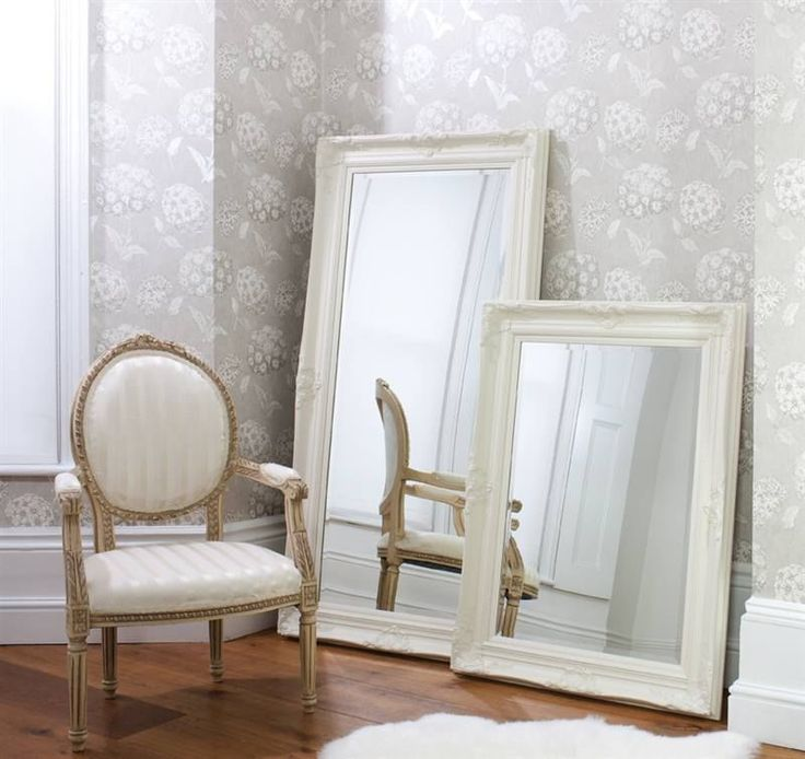 Rococo matt cream wall mirror ( roccoco Baroque Antique Louis Style )
