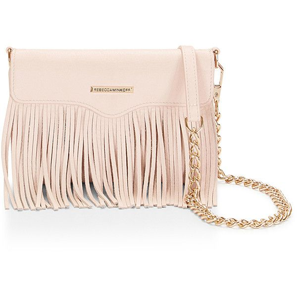 Rebecca Minkoff Universal Phone Fringe Crossbody (4,525 DOP) ❤ liked on Polyvore featuring accessories, tech accessories, bags, rebecca minkoff and galaxy smartphone