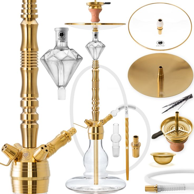 From DILAW® we offer you here a great, high quality …   – DILAW Shisha Edelstahl Set Hookah Komplettset Wasserpfeife MolassefängerGold