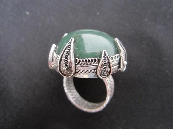 silver filigree rings - creative setting