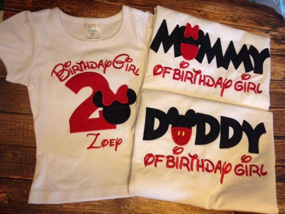 Mädchen Minnie Maus Geburtstag mit von LittleChickiesClips auf Etsy