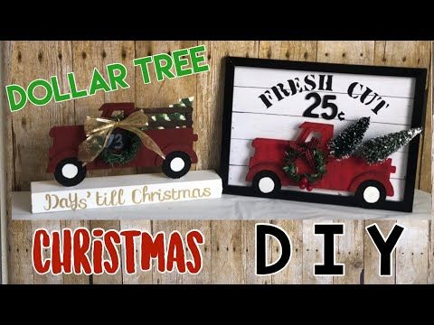 DOLLAR TREE DIY | Farmhouse |Christmas Red Truck -…