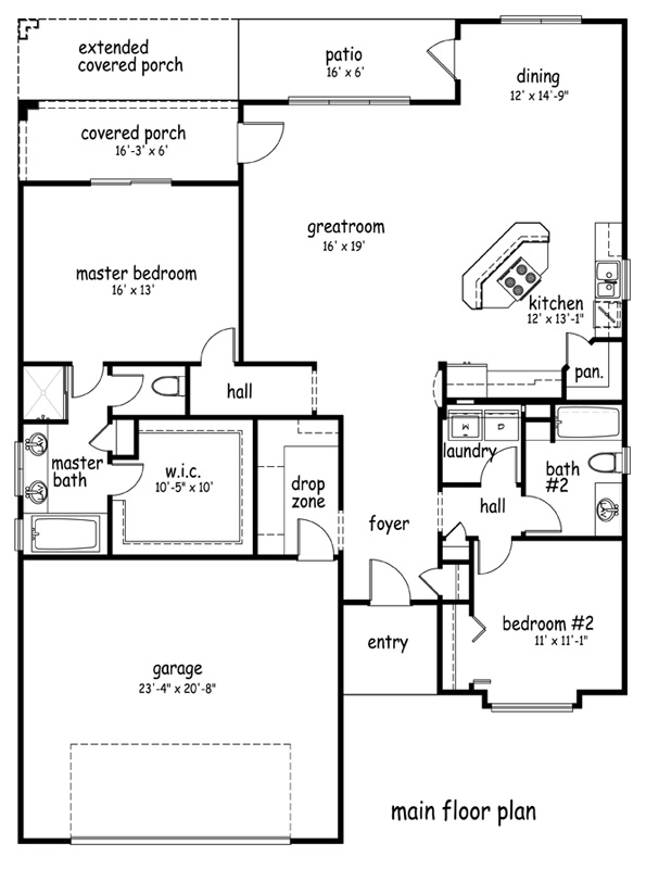 17 best images about 2 bed 2 bath with loft on pinterest for Cabin addition floor plans