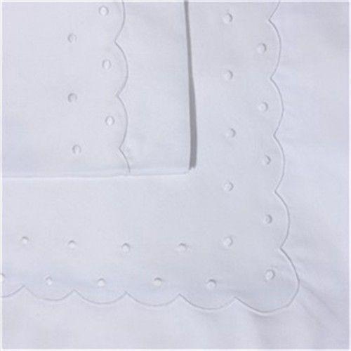 Sabanita BODOQUES  bordado en blanco