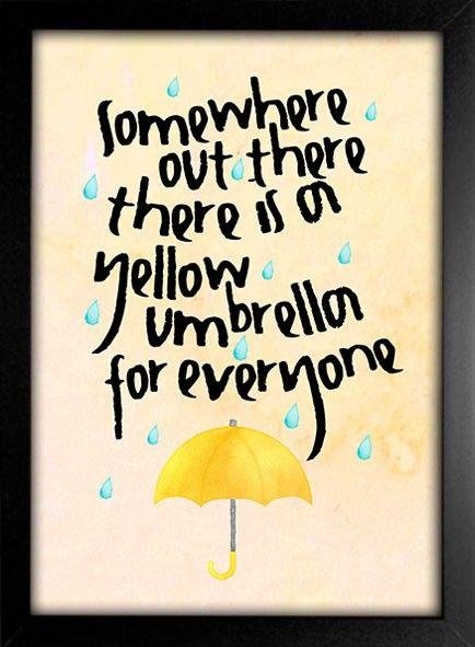 Poster Yellow Umbrella - How I Met Your Mother - Encadreé Posters