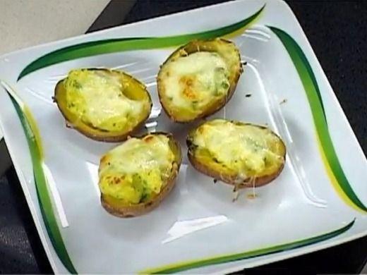 Sýrové plněné brambory