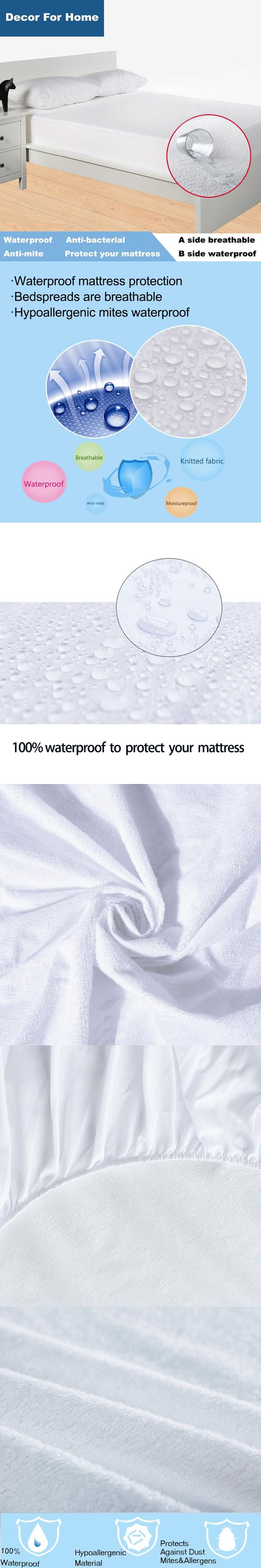 Size 120X200cm Terry Waterproof Mattress Protector  Cover For  Bed Bug Suit For 16 Mattress Size