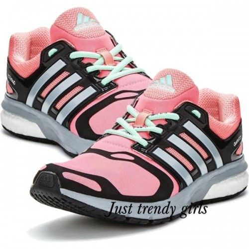Adidas running shoes pink, Adidas boost running shoes http://www.justtrendygirls.com/adidas-boost-running-shoes/