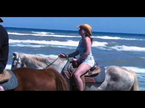 South Padre Island Adventures.  Ride horses on the beach.  My Husband and I did this on our honneymoon, it was so fun and the employees there are so nice! If you ever go to South Padre Island this is a must do!