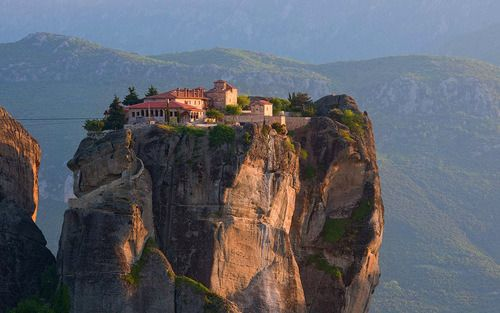 Suspended in Air, Meteora, Greece