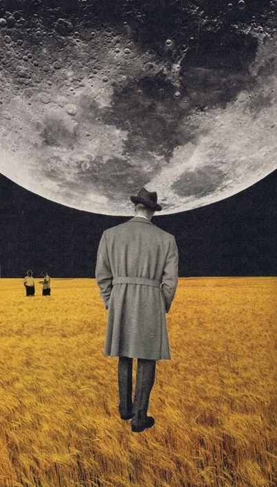 how high the moon- collage by Sammy Slabbinck