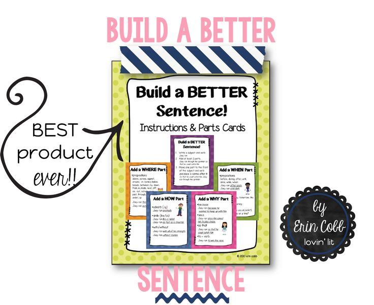how to build a sentence in english