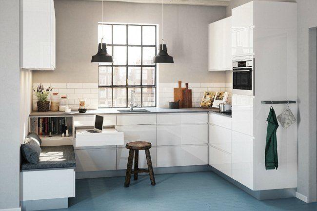 Fin siddeplads i et lille køkken. kvik_nyt