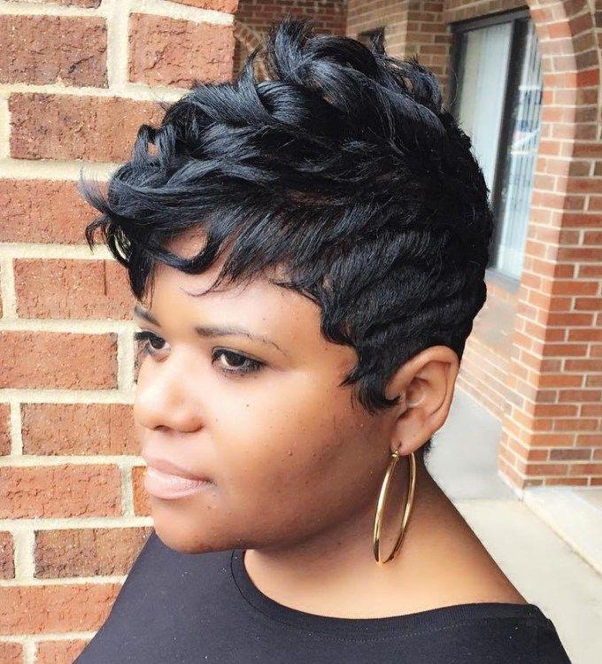 Women's Black Pixie Fauxhawk