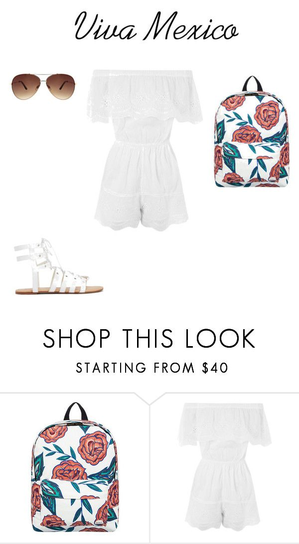 """""""School outfit #14 (summer)"""" by thisisnotjs on Polyvore featuring Roxy, Topshop and Ashley Stewart"""