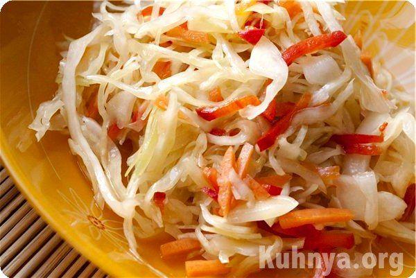 Салат из капусты на зиму маринованный рецепт