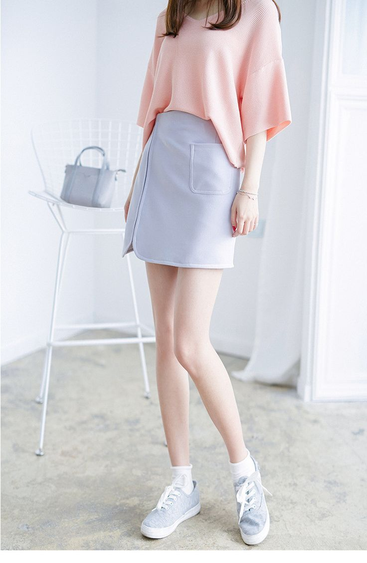 Korean Fashion - Single color skirt - AddOneClothing - 6