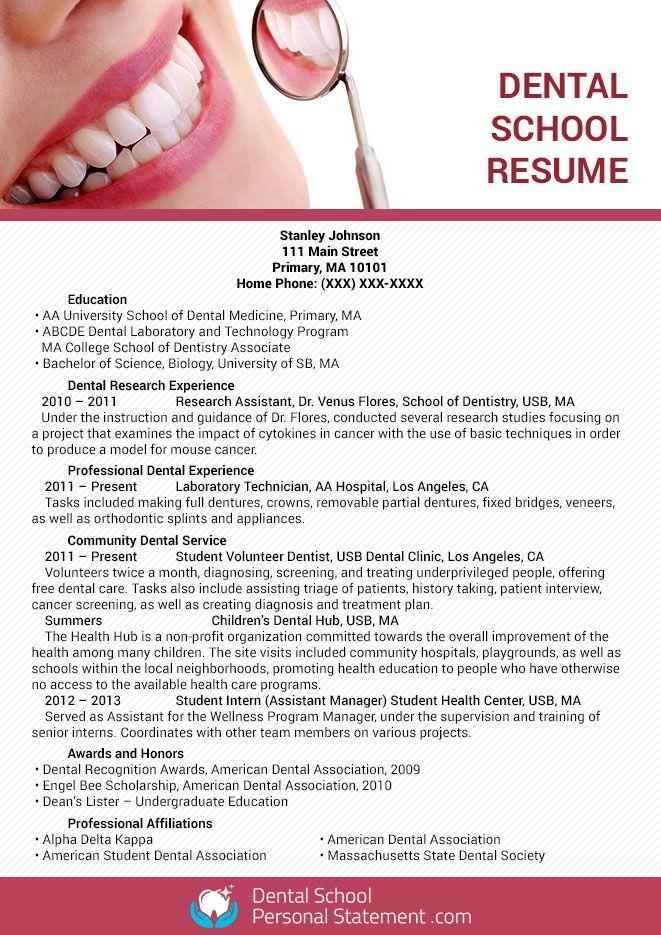 Dental School Personal Statement Samples (dentalschoolpss) on Pinterest