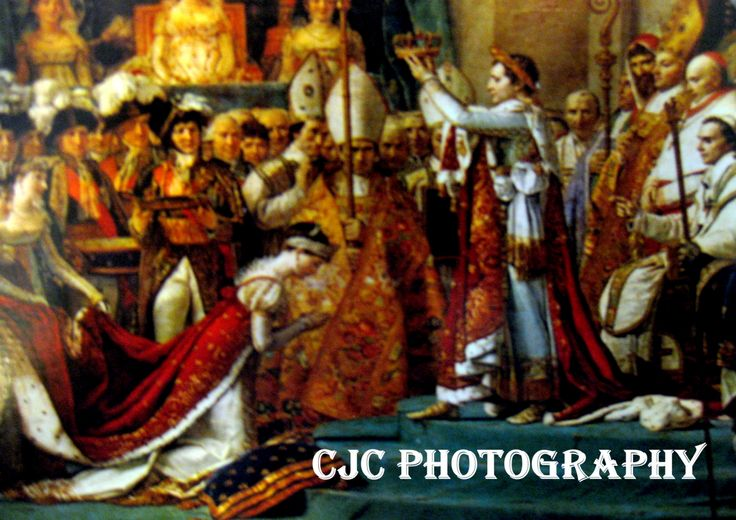 """Le Sacre De Napoleon"" Painting, Photographic Reproduction, 1808. Painted by Jacques Louis David ( 1748-1825) French Artist."