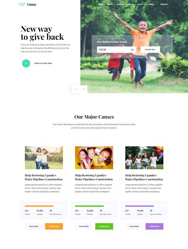 Cause Free Ngo Charity Website Template Website Template Charity Websites Best Website Templates