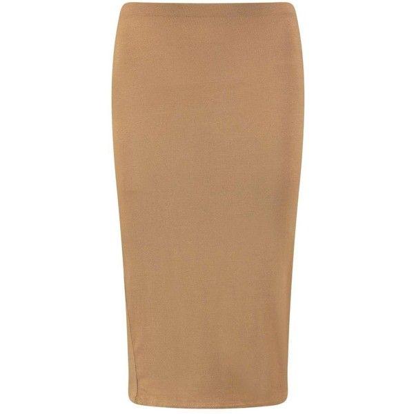 Mindy Midi Skirt (190 RUB) ❤ liked on Polyvore featuring skirts, midi skirt, beige midi skirt, mid calf skirts, calf length skirts and beige skirt