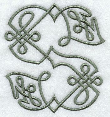 Celtic Knotwork Letter S - 5 Inch