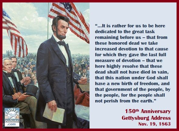 abraham lincoln gettysburg address Abraham lincoln gave his famous gettysburg address at a public cemetery  dedication 151 years ago today but was the mention of god really.