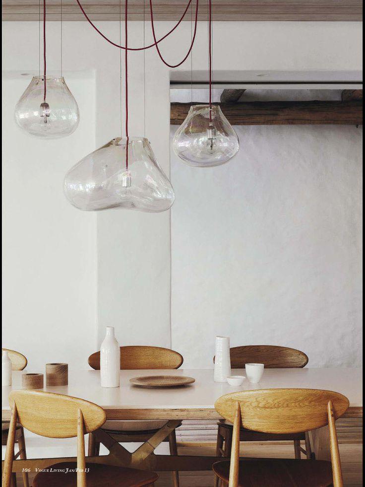 Dining room pendent lighting