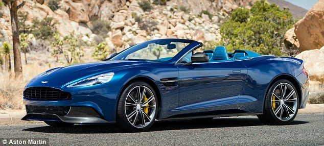 Luxury: The Aston Martin Vanquish Volante comes with a price tag of £200,000